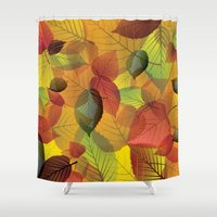 Pile of Leaves Shower Curtain