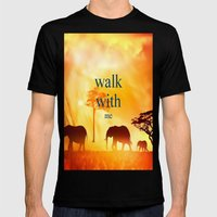 Walk With Me Mens Fitted Tee Black SMALL