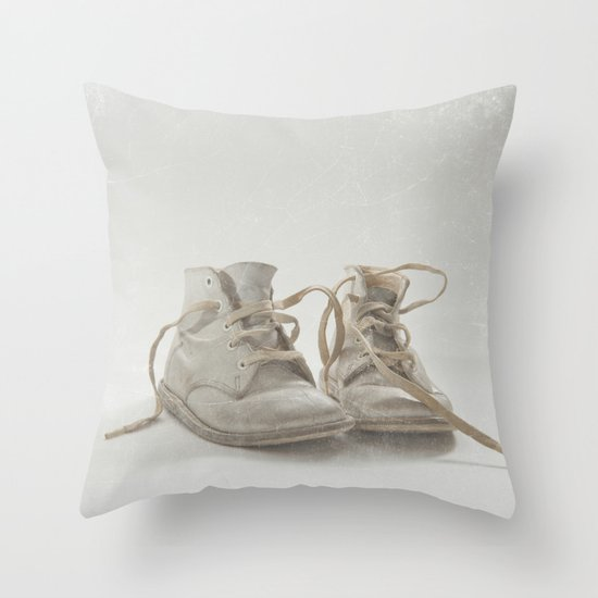 Baby Shoes Throw Pillow