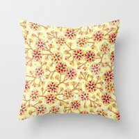 Candy Apple Blossom Throw Pillow