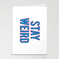 Stay Weird Stationery Cards