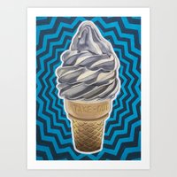 Ice Cream Soft-Serve Cone Art Print
