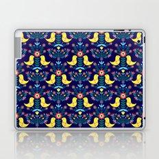 Folk Birds Blue Laptop & iPad Skin