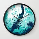 Squid Splash Wall Clock