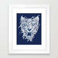 SNOWleopard Framed Art Print