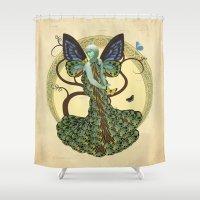 Lepidoptera Somniare Shower Curtain