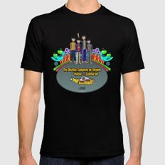 Yellow Submarine Mens Fitted Tee SMALL Black