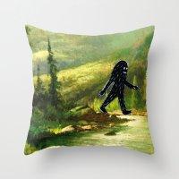 Sasquatch Throw Pillow