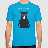 Bear Cool Mens Fitted Tee Teal SMALL