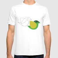 Bird is the word Mens Fitted Tee White SMALL