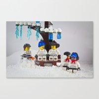 Snow Vortex Canvas Print