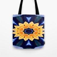Orange Flower Mandala Tote Bag