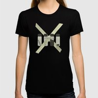 x-files  Womens Fitted Tee Black SMALL