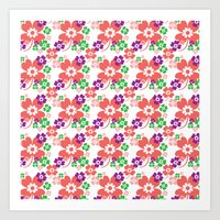 lucky flower multi Art Print