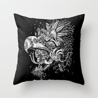 Eagle Warrior Throw Pillow