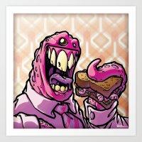 Lunch! - Monster Art Print