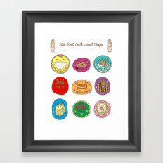 Girl Scout Cookie Merit Badges Framed Art Print