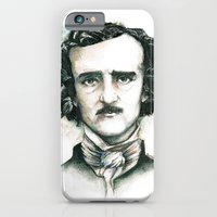 iPhone & iPod Case featuring Edgar Allan Poe and Ravens by Stephane Lauzon