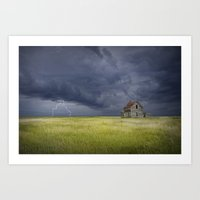 Thunderstorm On The Prai… Art Print