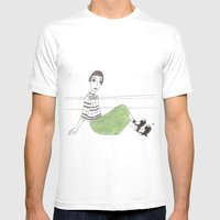 Girl On The Floor Mens Fitted Tee White SMALL