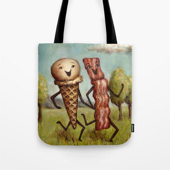 Bacon Loves Ice Cream Tote Bag