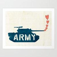The Love Army Art Print