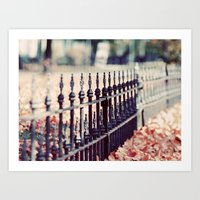 Autumn Fence Art Print