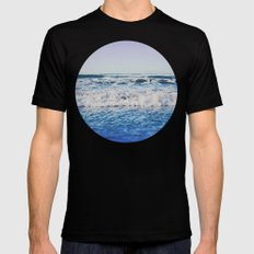 Indigo Waves Mens Fitted Tee Black SMALL