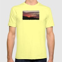 Sunset  - JUSTART © Mens Fitted Tee Lemon SMALL