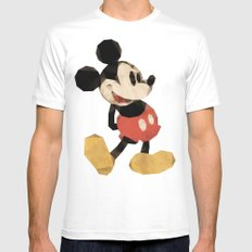 Mr. Mickey Mouse SMALL Mens Fitted Tee White
