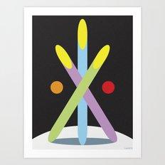 EARTH BASE 1 Art Print
