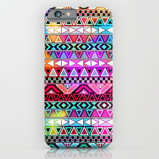 Neon Aztec   Purple Pink Neon Bright Andes Abstract Pattern iPhone & iPod Case