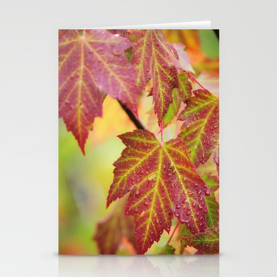 Maple Leaves Stationery Card