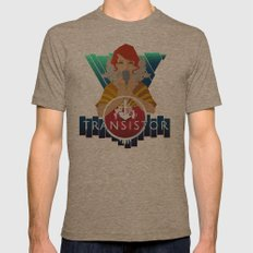 TRANSISTOR Mens Fitted Tee Tri-Coffee SMALL