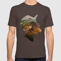Get Away Mens Fitted Tee Brown SMALL