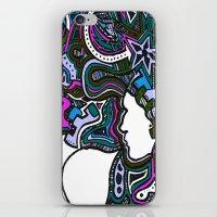 Purple Techno iPhone & iPod Skin