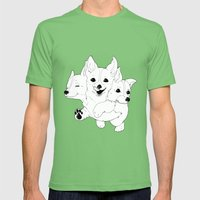 Corgerberus Mens Fitted Tee Grass SMALL