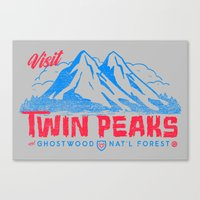 Visit Twin Peaks (hot Pi… Canvas Print