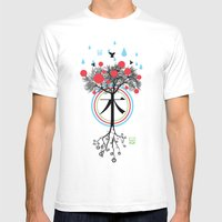 Árbol - 木 - Tree Mens Fitted Tee White SMALL