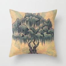Crepe Myrtle Tree in Bloom Throw Pillow