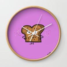 Cinnamon Raisin Toast Wall Clock