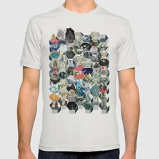 The Library of Babel Mens Fitted Tee Silver SMALL