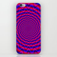 Red And Blue Spiral iPhone & iPod Skin