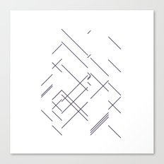 #417 Encounter – Geometry Daily Canvas Print