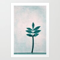 Blue Fall Art Print