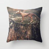 The Last Thylacine Throw Pillow