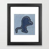 Original Detroit Lions L… Framed Art Print