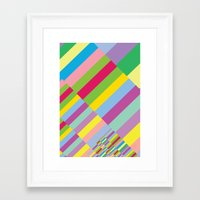 Stairs to Office  [COLORS] [COLOR] [COLORFUL]  Framed Art Print