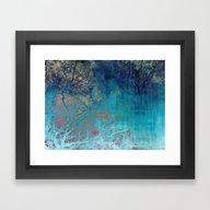 On The Verge Of Blue Framed Art Print