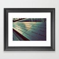 Names Framed Art Print